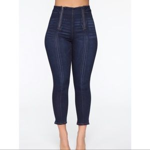 New Zipper Ankle Jeans